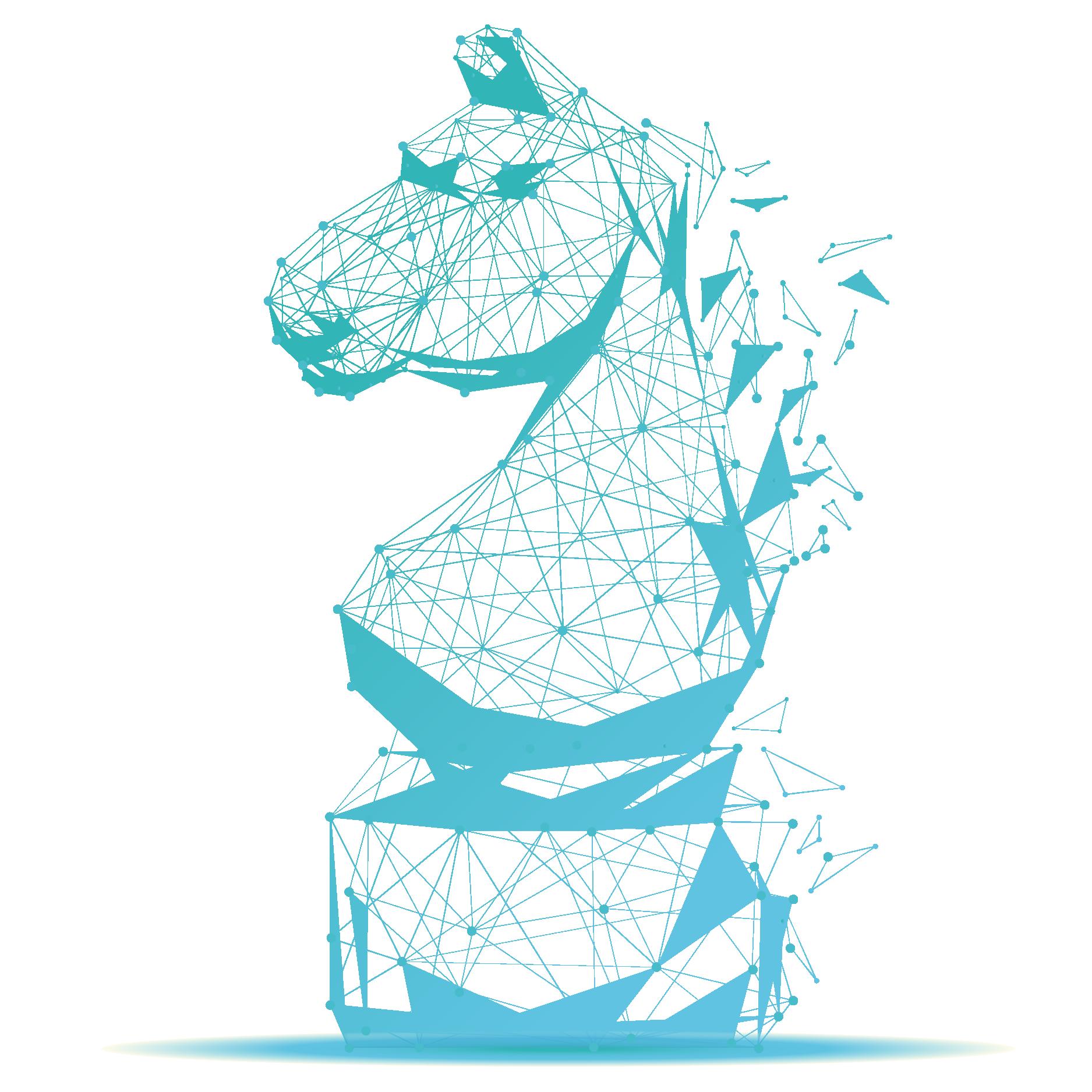 blue strategic horse
